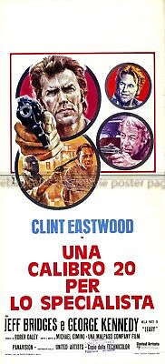 Thunderbolt and Lightfoot 1974 Clint Eastwood Italian locandina