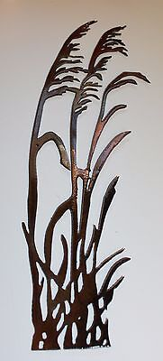 Sea Oats Wind blowing right metal wall decor  copper/bronze