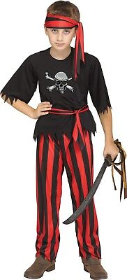 Child Jolly Roger Pirate Buccaneer Swashbuckler Costume  (Children Pirate Costume)