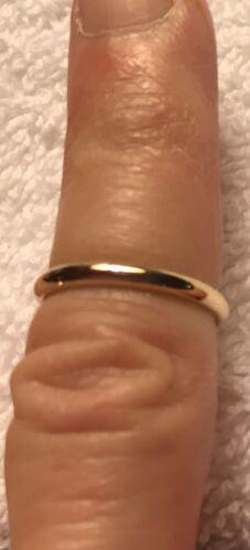 Vintage Gold Wedding Band, Sz. 3 1/2-3 3/4, 14K Yellow Gold - $115.00