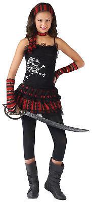 Totenkopf Rocker Kinder Mädchen Kostüm Halsband & Armstulpen Kostüm - Toter Rocker Mädchen Kostüm