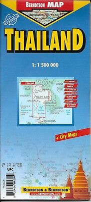 Map of Thailand, Laminated & Folded by Berndston Maps