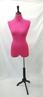 1 New Pink Stretchy Covers To Renew Female Mannequin Torso For Half Body Form