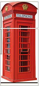 Sticker frigo lectrom nager d co cabine t l phonique - Cabine telephonique anglaise a vendre ...
