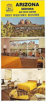 Jumbo 3Sv Best Western Rondee Motel Sedona Az Vintage 1970S Photo Adv Postcard