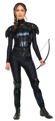 Katniss Everdeen Adult Costume Hunger Games Rubies Black Halloween Party](Hunger Games Katniss Everdeen Halloween Costumes)