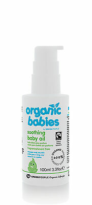 ORGANIC BABIES SOOTHING BABY OIL - SCENT FREE 100ML