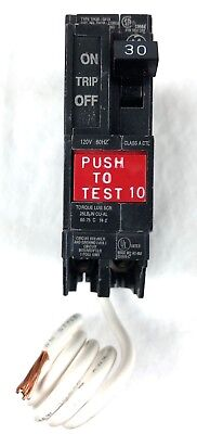 New Nos Ge Thqb1130gf Ground Fault Circuit Breaker 30a 1p 120v New In Box