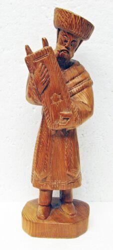 "Beautiful 9"" Hasidic Jew Man w/ Torah wooden carved figure M"