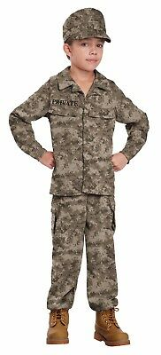 U.S.A  America Army Navy Marine Air Force Military Soldier Child Costume