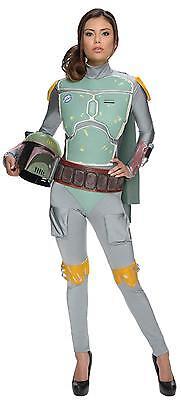 Boba Fett Womens Costume (Star Wars Boba Fett Female Adult Bodysuit licensed costume cosplay  extra)