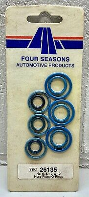 26135 Four Seasons A/C Hose Fitting O-Rings sizes no. 6, 8, 10, & 12 - see pic