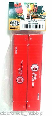 Ho Scale Con Cor 088030 Hub Group Red 53 Hi Cube Containers 2 Pack