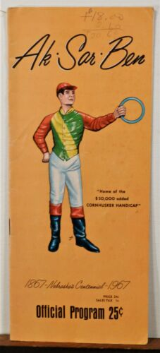 1967 Ak-Sar-Ben Omaha Nebraska June 23 Horse Racing Program brochure b