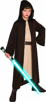 STAR WARS *JEDI ROBE* knight cloak CHILD COSTUME Small Luke Skywalker Brown Hood](Kids Jedi Costume)