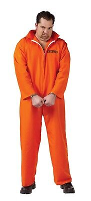 Plus Size Jail Halloween Costumes (Fun World Got Busted Prisoner Inmate Jail Plus Size Mens Halloween Costume)