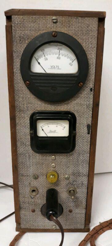 Vintage Handmade Voltmeter Westinghouse Meter Shurite Meter