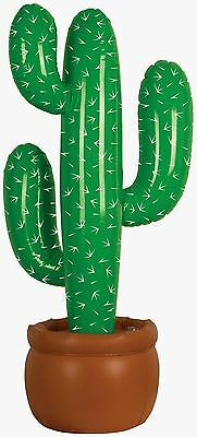 Blow Up Cactus (3 Inflatable Cactus Blow Up Wild West Mexican Cowboy Setter Decoration Party)