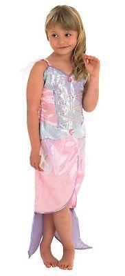 Meerjungfrau Mädchen Kinder 2 Teilig Kostüm Mehrfarbig Glitzer (2 Teiliges Meerjungfrau Kostüm)