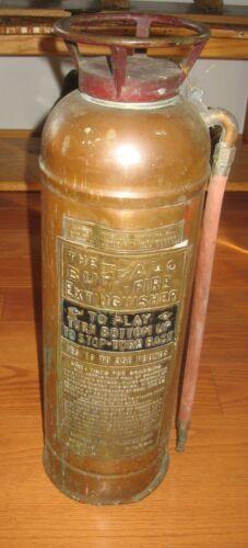 Antique Vintage Buffalo Copper Brass Fire Extinguisher New York Rare Empty