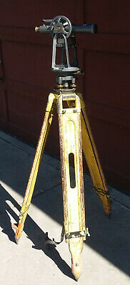 Realist David White Instruments Surveyors Transit Level Tripod Vintage
