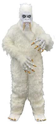 Yeti Costume Adult Bigfoot Hairy Beast Monster White - Yeti Kostüm Halloween