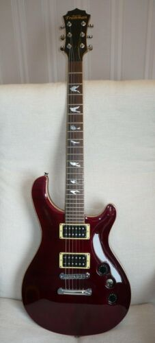 FRESHMAN Electric Guitar Flying Bird Inlays Purple Flame Maple Top - VGC, Rare!!