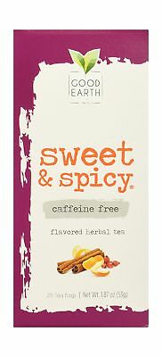 Good Earth Sweet & Spicy Flavored 25 Tea Bags 4 Pack Herbal Teas 25 Bag Good Earth Teas