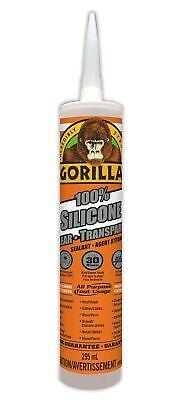 Gorilla Clear 100 Percent Silicone Sealant Caulk, Waterproof