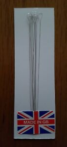 Beading Needles S/S Twisted wire Super Fine Large Eye Made In G.B.  Free P&P