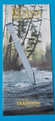 VINTAGE RUANA KNIFE WORKS INC CATALOG PAMPHLET! RHETT STIDHAM ESTATE