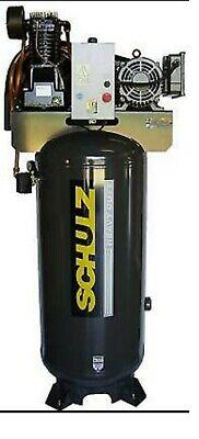 Schulz Air Compressor - 7.5hp Single Phase - 80 Gallon Tank - 30cfm - 175 Psi