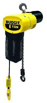 New Budgit 1-ton Electric Chain Hoist - 115 Volts