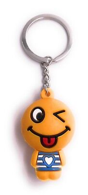 Orange Figur Zunge raus Smiley Schlüsselanhänger Anhänger (Smiley Zunge Raus)
