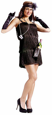 Bootleg Baby Adult Womens Costume Black Flapper Halloween Fancy Dress Funworld - Baby Flapper Costume