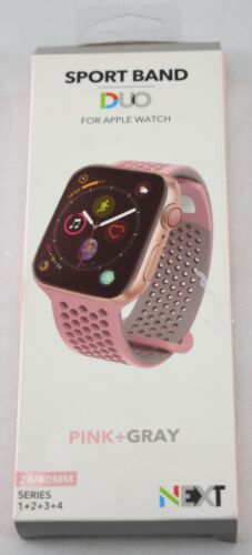 NEXT - Sport Band Duo for Apple Watch 38mm and 40mm - Gray/Pink - 143JJ