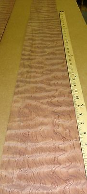 Waterfall Bubinga Quilted Wood Veneer 6 X 63 Raw No Backing Aaa 132 Thick