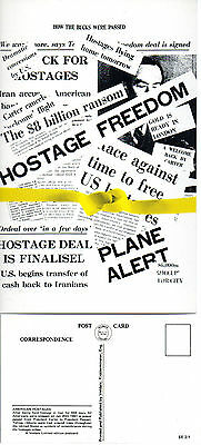 1981 AMERICAN HOSTAGES FREED LIMITED EDITION MINT POSTCARD BY VELDALE
