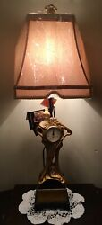 Dale Tiffany Antiques Roadshow Collection Art Deco Lamp With Clock Fine Lighting
