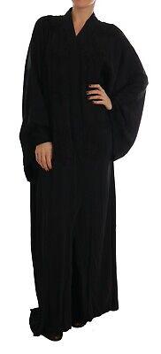 NEW $5000 DOLCE & GABBANA Dress Cape Black Lace Silk Kaftan Abaya IT50/US16/XXL