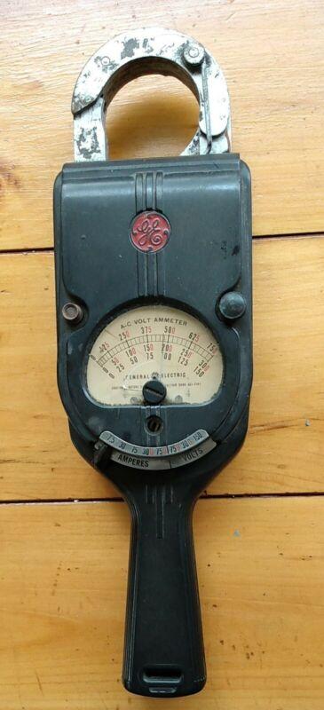 Vintage GE A-C Volt Ammeter UNTESTED