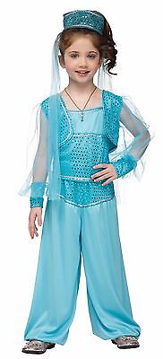 Girls Arabian Princess Costume Jasmine Harem Gypsy Genie Halloween Toddler Kids