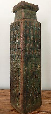 Erik Ploen ~ Norway ~ Art Pottery ~ Mid Century ~ Ceramic ~ Tall Vase ~ EUC