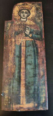 ANTIQUE RELIGIOUS HAND PAINTED TRIPTYCH ICON 1 PIECE