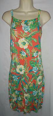Decree multi floral print pullover stretch Tank mini dress large NWT