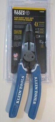 Klein Tool Klein-kurve Heavy-duty Wire Stripper Crimper 8-20 Awg K12065cr New