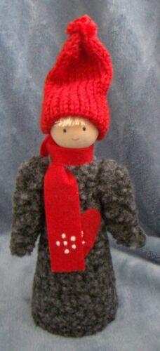 Swedish Christmas Tomte Nisse girl vntg handmade sheep