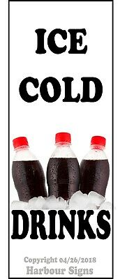 Ice Cold Drinks Decal Choose Your Size Soda Concession Food Trucks Sticker