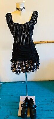 Hot Topic Tim Burton's The Nightmare Before Christmas Steampunk Goth Dress Large