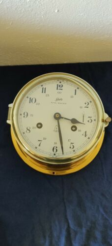 Vintage Schatz Royal Mariner Brass Clock